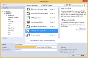 Creating Your First ASP.NET MVC 6 Application Using c# FromScratch